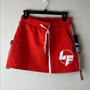 LF the Brand Red Strapped Mini Skirt Size Medium